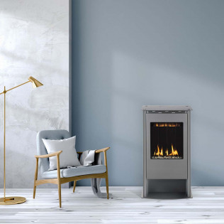 Solas Free Standing Fireplace Grey
